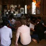 Singing Cambodian Christmas carols