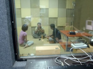 It's a real recording studio in Phnom Penh
