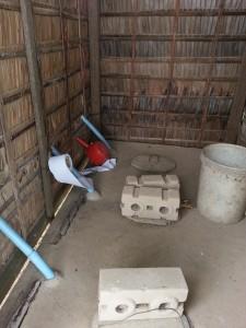 Dry pit toilet interior