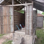 The dry pit toilet