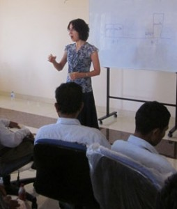 Sarah at a recent Jonathan Training for Cambodian pastors